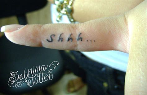 shhh tattoo on finger meaning this shh is pictures to pin on pinterest tattooskid