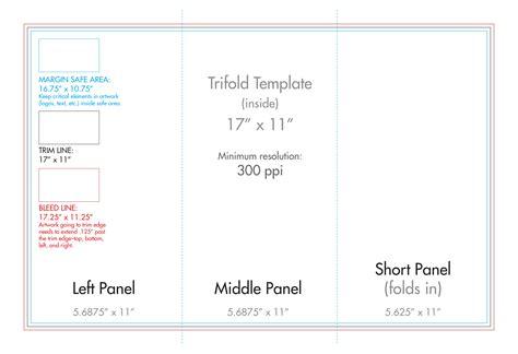 11 Quot X 17 Quot Tri Fold Brochure Template U S Press 11x17 Brochure Template