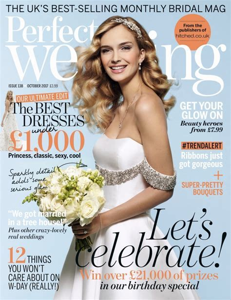 Our Flowers on the Front Cover of Perfect Wedding Magazine