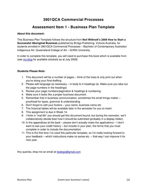 3901 qca business plan concept template