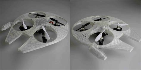 3d printed version of the turn your drone into a 3d printed version of the millennium falcon from wars 3dprint