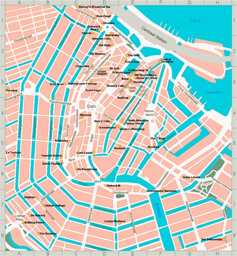 netherlands coffeeshop map amsterdam and den haag maps coffeeshops