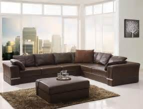 Best Leather Sectional Sofa Brown Leather Sectional Sofas Plushemisphere
