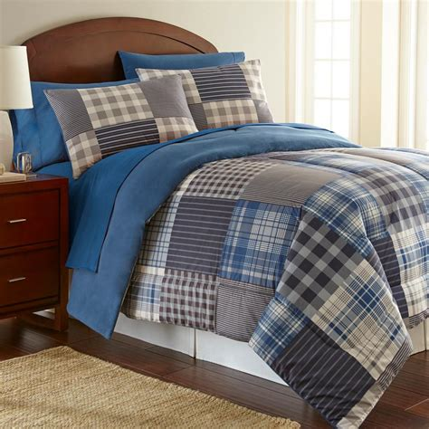 twin plaid comforter micro flannel smokey mountain plaid 3 piece twin comforter
