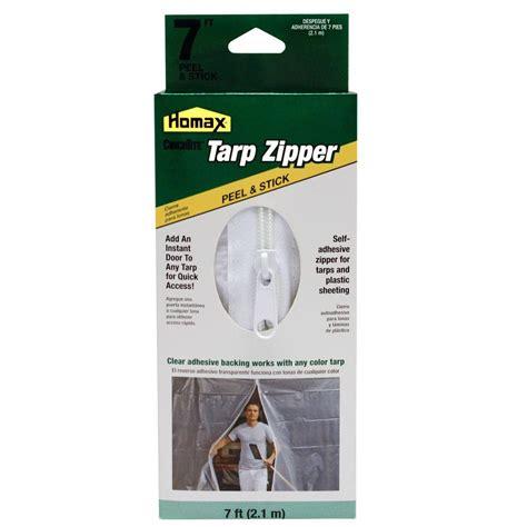Adhesive Zipper Door - homax 7 ft clear tarp zipper door 3142 the home depot
