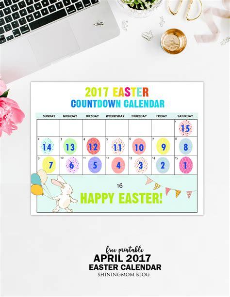 easter 1973 calendar free printable easter countdown calendar 2017