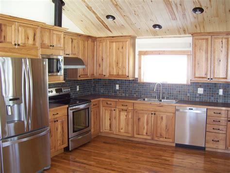 Knotty Hickory Kitchen Cabinets hickory cabinets kitchen rustic with cabin hickory knotty hickory