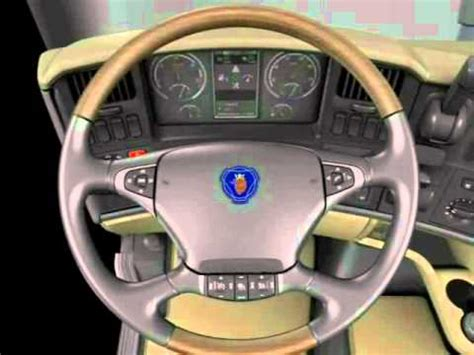 scania interni cabina scania serie r interior de cabina wmv