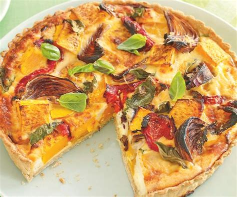 vegetables quiche roast vegetable quiche recipe food to