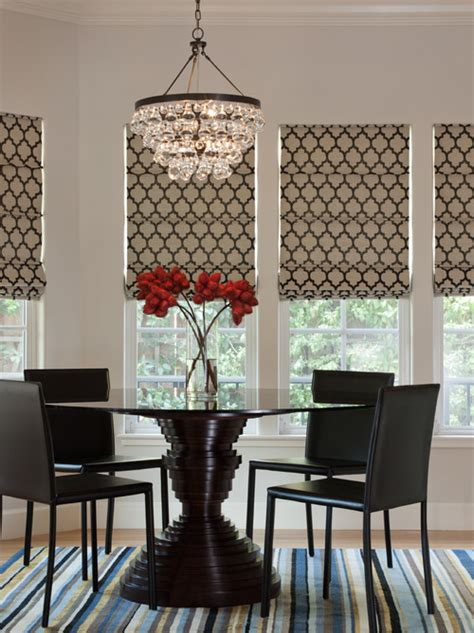 dining room blinds avenue window fashions designer roman shades