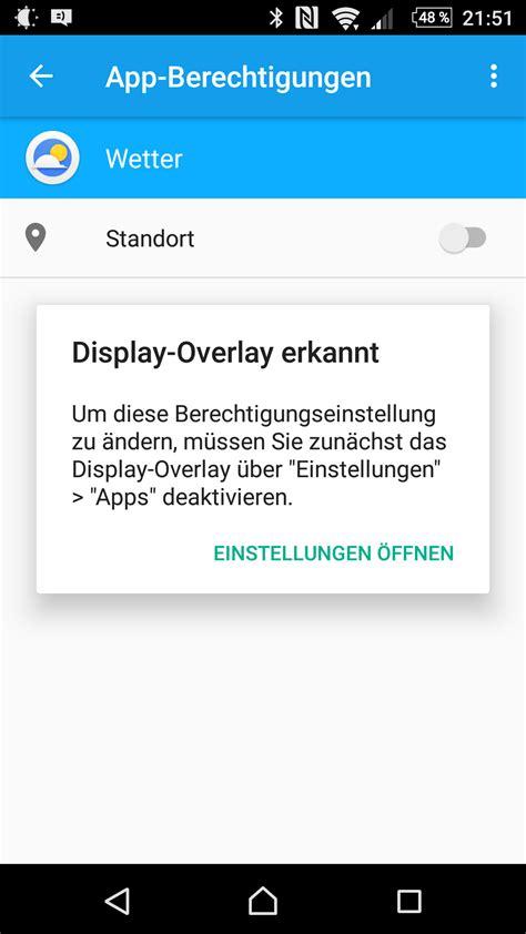 android layout overlay view display overlay deaktivieren wird nicht gefunden in der