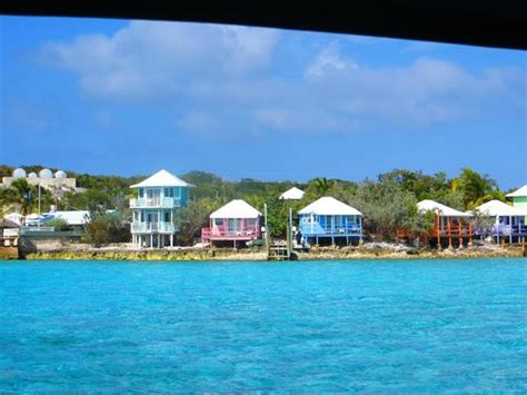 cottages seaglass in the middle picture of staniel cay