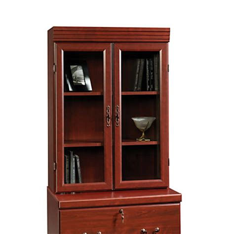 sauder lateral file cabinet with hutch sauder heritage hill lateral file hutch 41 h x 29 78 w x
