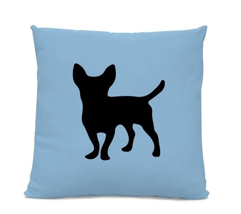 silhouette home decor chihuahua silhouette pillow your choice of color