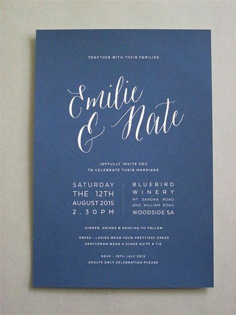 Best 25 Simple Wedding Invitations Ideas On Pinterest Simple Wedding Card Template