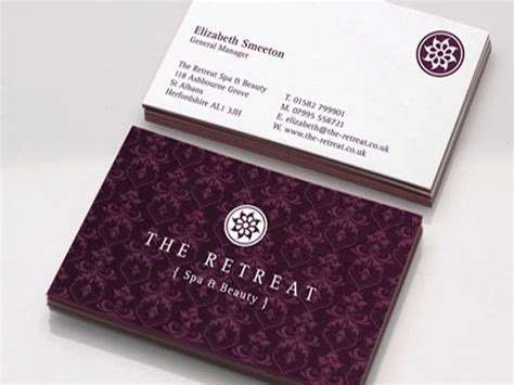 Elegant Spa Business Card   Business Card Design Inspiration