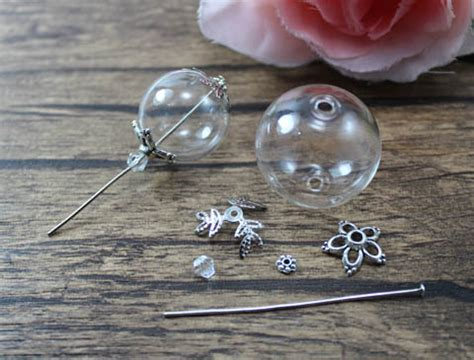 Rhinestone Bow Knot Pearl Dust Pluggy For 35mm Bg0628lc ethnic tribal necklaces amulet locket cases planter pet bottle tribal necklaces designs