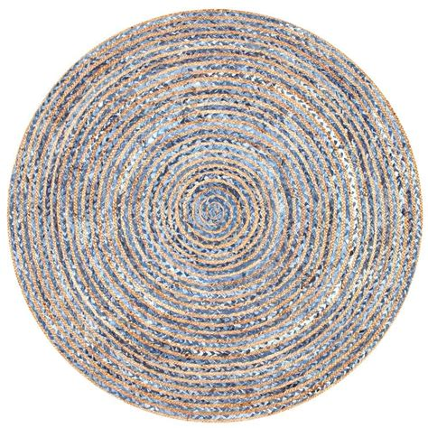 8 foot jute rug nuloom striped dara jute blue 8 ft x 8 ft area rug mgdr02a 808r the home depot