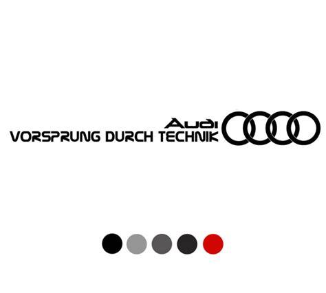 Audi Vorsprung Durch Technik by Detailkorea Vorsprung Durch Technik Audi Slogan Car Decal