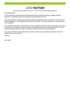 Leading Professional Bartender Cover Letter Examples