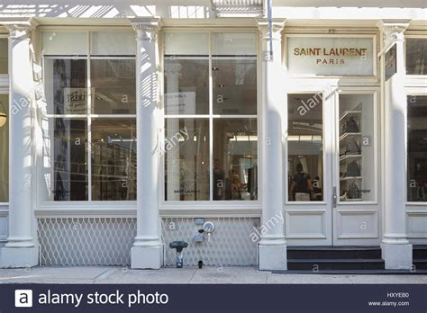 laurent shop exterior view in greene st soho in a