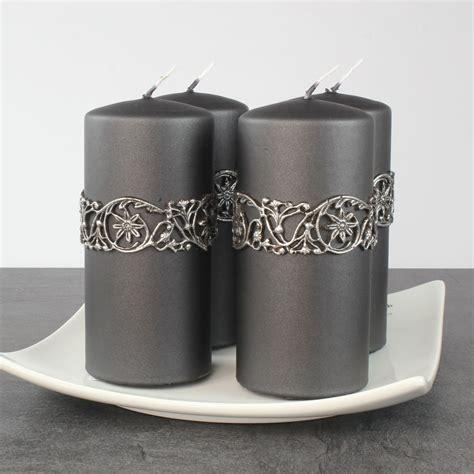 Kerzen Wandhalter Silber by Kerzen Stumpenkerzen Adventskerzen Cosima 4 Stk 150 70