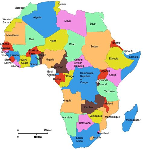 map of africa with country names and capitals names of all the countries wow image
