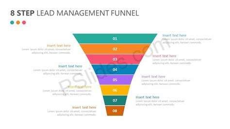 lead funnel template 8 step lead management funnel diagram pslides