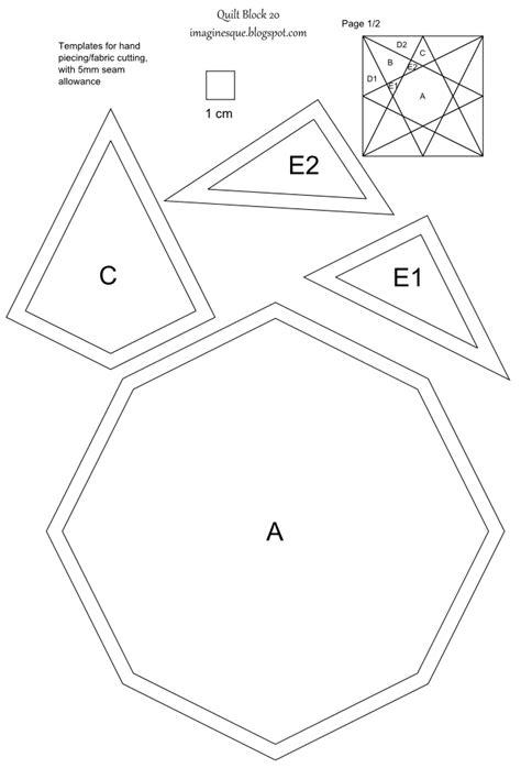 paper piecing templates uk imaginesque quilt block 20 templates for epp