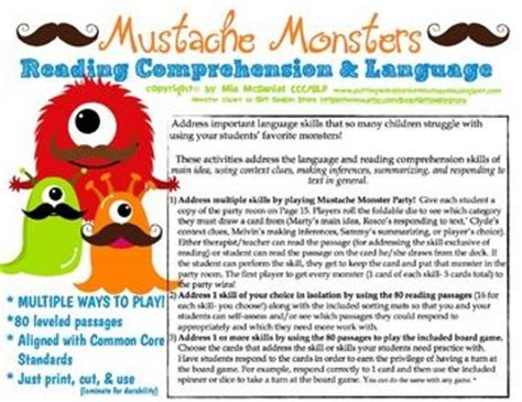 themes for reading comprehension 17 best images about mustache theme on pinterest