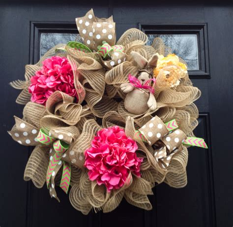 Handmade Wreath - 26 creative and easy handmade easter wreath designs