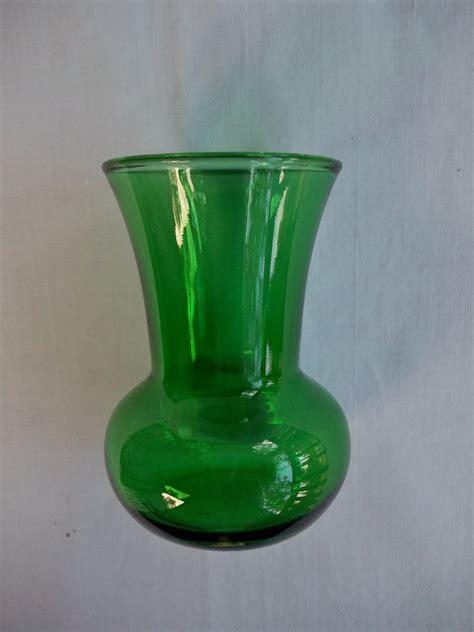 Vintage Green Vase by Vintage Small Forest Green Vase