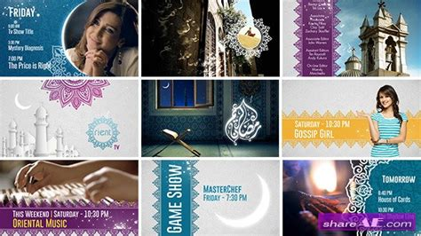 template after effects ramadan broadcast ident package ramadan special after effects