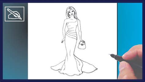 como dibujar vestidos fotos c 243 mo dibujar a barbie en vestido de gala how to draw