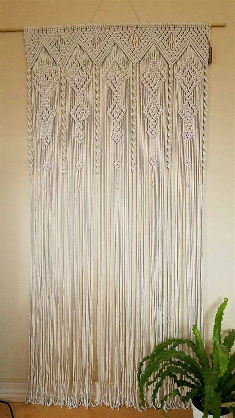 macrame curtains macrame curtain room divider door curtain retro wall hanging