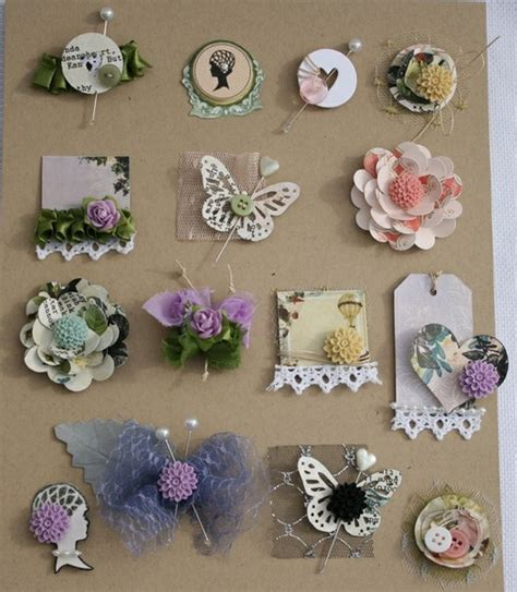Handmade Scrapbook Embellishments - embellishment ideas paper embellishments