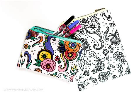 zippered fabric pouch pattern coloring book fabric zippered pouch tutorial printable crush