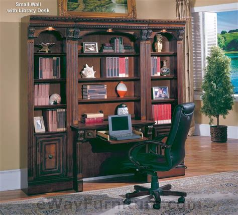 Small Home Library Furniture House Huntington Small Wall With Library Desk
