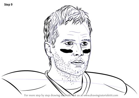 Learn How To Draw Tom Brady Footballers Step By Step Tom Brady Coloring