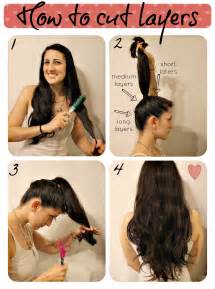layer my hair with ponytail method how to cut layers diary of a mad crafter