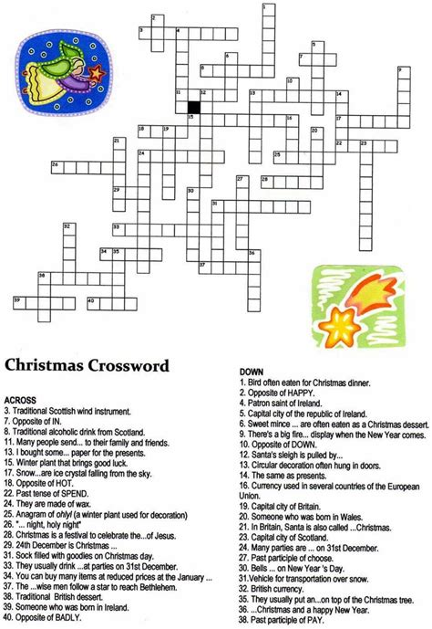 best christmas puzzles and answers crossword puzzles for middle schoolers 1000 images about crosswords for on