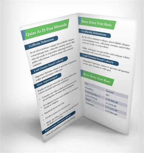 10 page brochures foster printing 10 realistic psd bi fold mockup template with print design