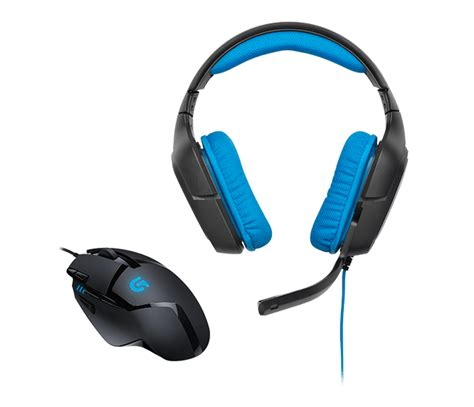 Headset Gaming Logitech G430 logitech g430 surround sound gaming headset with g402
