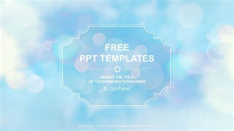 Bokeh Blue Background Powerpoint Templates Free Simple Powerpoint Templates
