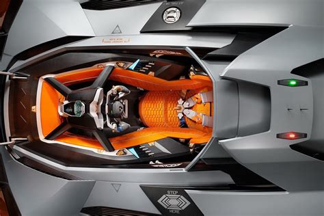 Lamborghini Egoista Cockpit Lambo Egoista Closes Its Orange Canopy And Starts Engine