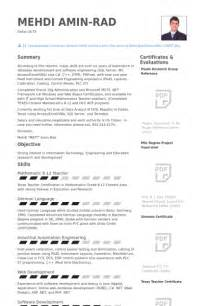 software developer resume sles visualcv resume