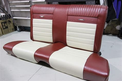 1966 mustang bench seat upholstery before and after duncans speed custom