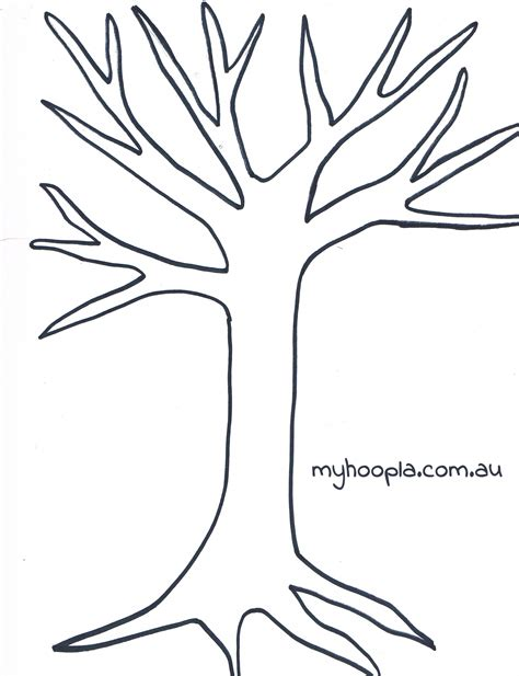 tree template clipartsco