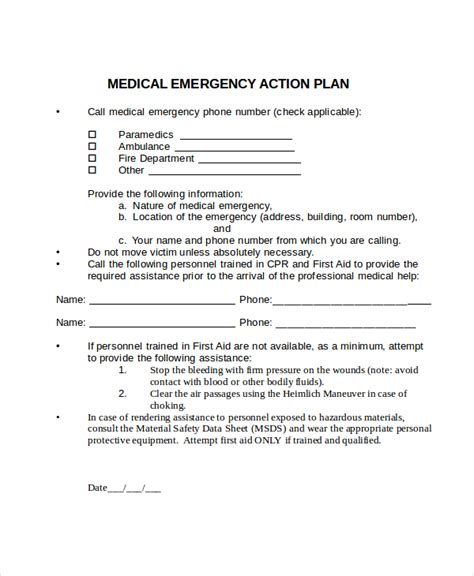 emergency plan template for businesses plan template 14 free word pdf document