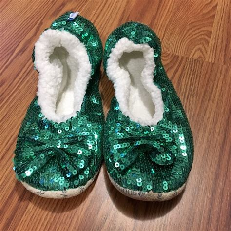 snoozies sequin slippers snoozies snoozies emerald green bling cozy sequin